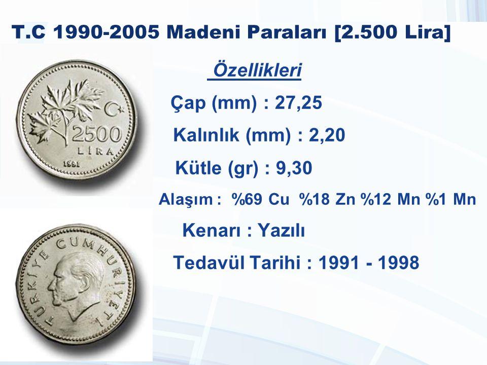T.C 1990-2005 Madeni Paraları [2.500 Lira]